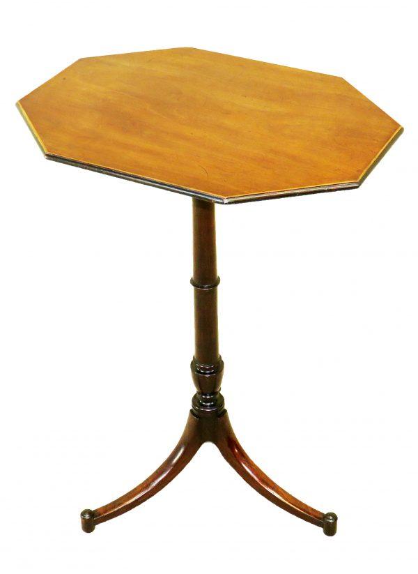 Georgian 18th Century Mahogany Octagonal Wine Table