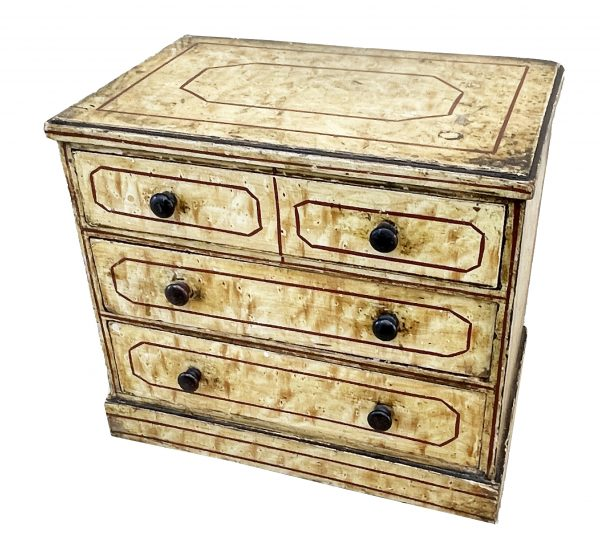 Mid 19th Century Birdseye Maple Simulated Miniature Chest