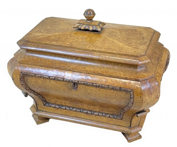 Regency 19th Century Burr Elm Cellarette