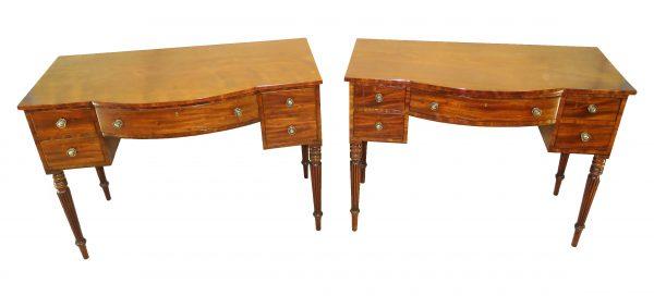 Pair Of Regency Mahogany Dressing Tables