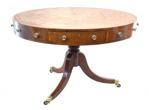 Georgian 19th Century Mahogany Drum Table
