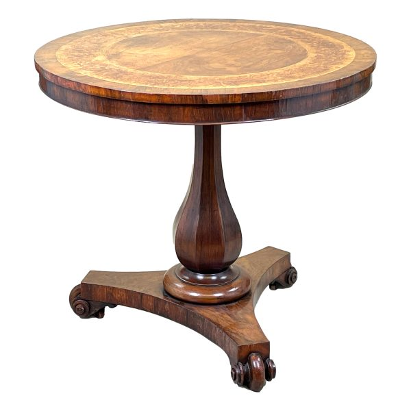 Mid 19th Century Rosewood & Marquetry Circular Table