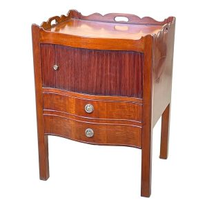 Georgian Mahogany Bedside Night Table