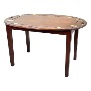 Georgian Mahogany Oval Tray On Stand