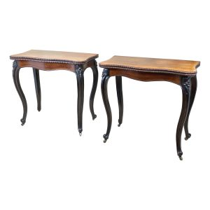 19th Century Rosewood Pair Of Card Tables