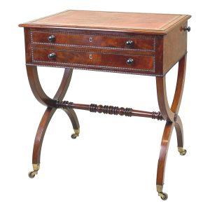 Small Regency Mahogany Writing Table
