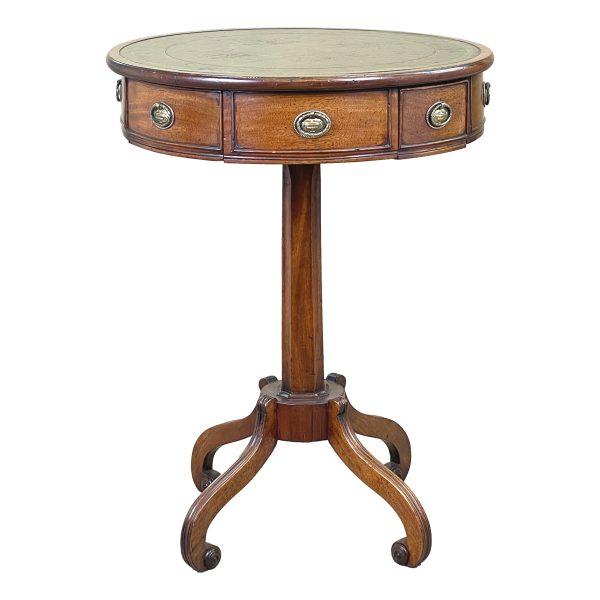 Regency Mahogany Drum Type Lamp Table