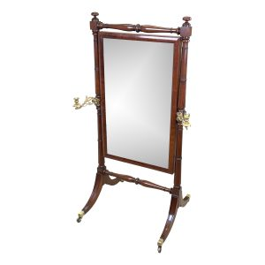 Georgian Mahogany Cheval Dressing Mirror