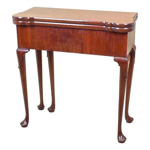 Rare 18th Century Walnut Tea & Silver Table