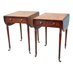 Regency Mahogany Pair Of Pembroke Tables